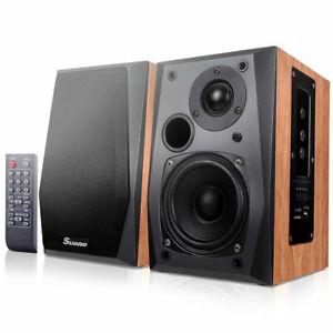 Powered-Bluetooth-Bookshelf-Speakers-Active-Near-Field-Monitors-Remote-Control