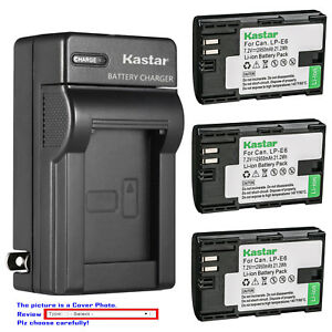 Kastar-Battery-AC-Charger-for-Canon-LP-E6-LP-E6N-LC-E6-Canon-EOS-60D-Camera