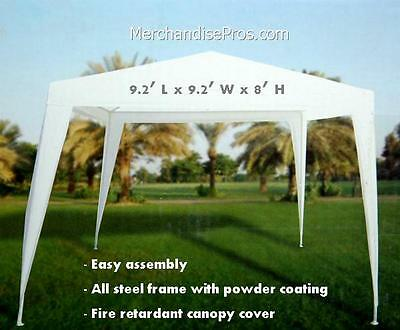 9.2 FT CANOPY GAZEBO TAILGATING SUN SHELTER W/STEEL FRAME ASSEMBLY REQUIRED NEW!