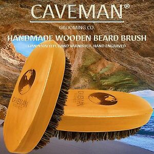 Handcrafted-Beard-amp-Hair-Brush-100-Boar-Bristles-Beard-by-Caveman-All-Hair