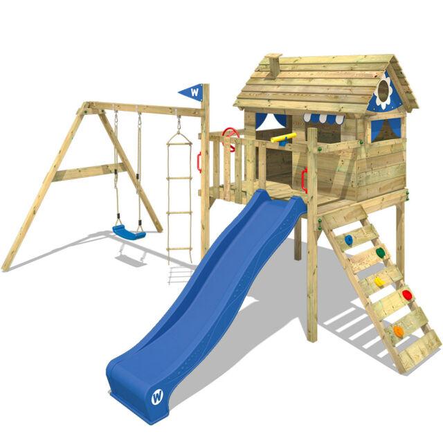 WICKEY Spielturm Klettergerüst Smart Travel Garten Spielplatz Schaukel  Rutsche