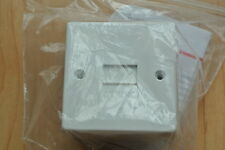 legrand Saxon 080868 Wall Mount Telephone Socket Outlet Box Single Master White