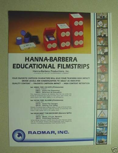HANNA-BARBERA Filmstrip Set Scooby-Doo Film NEW Road Signs education