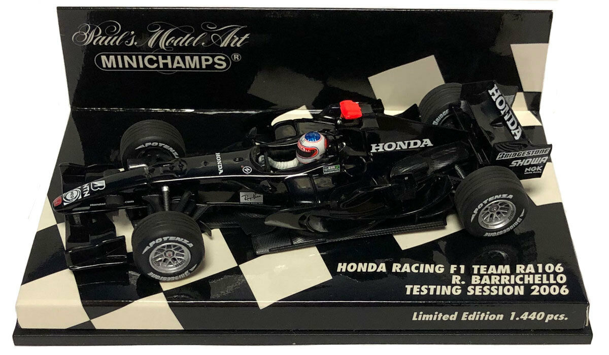 Minichamps HONDA RACING F1 Team RA106 test 2006-Rubens Barrichello SCALA 1 43