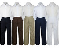 2pc Boy Toddler Teen Kid Formal Party Tuxedo Suit White Shirt & Pants Set Sm-20