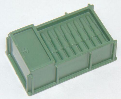 Vintage 1984 Hasbro Gi joe Mortier Defense Unit munitions Crate Playset partie utilisée