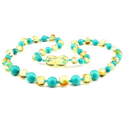 Batlic Amber Necklace Genuine Natural Baroque Polished Round Beads 32cm