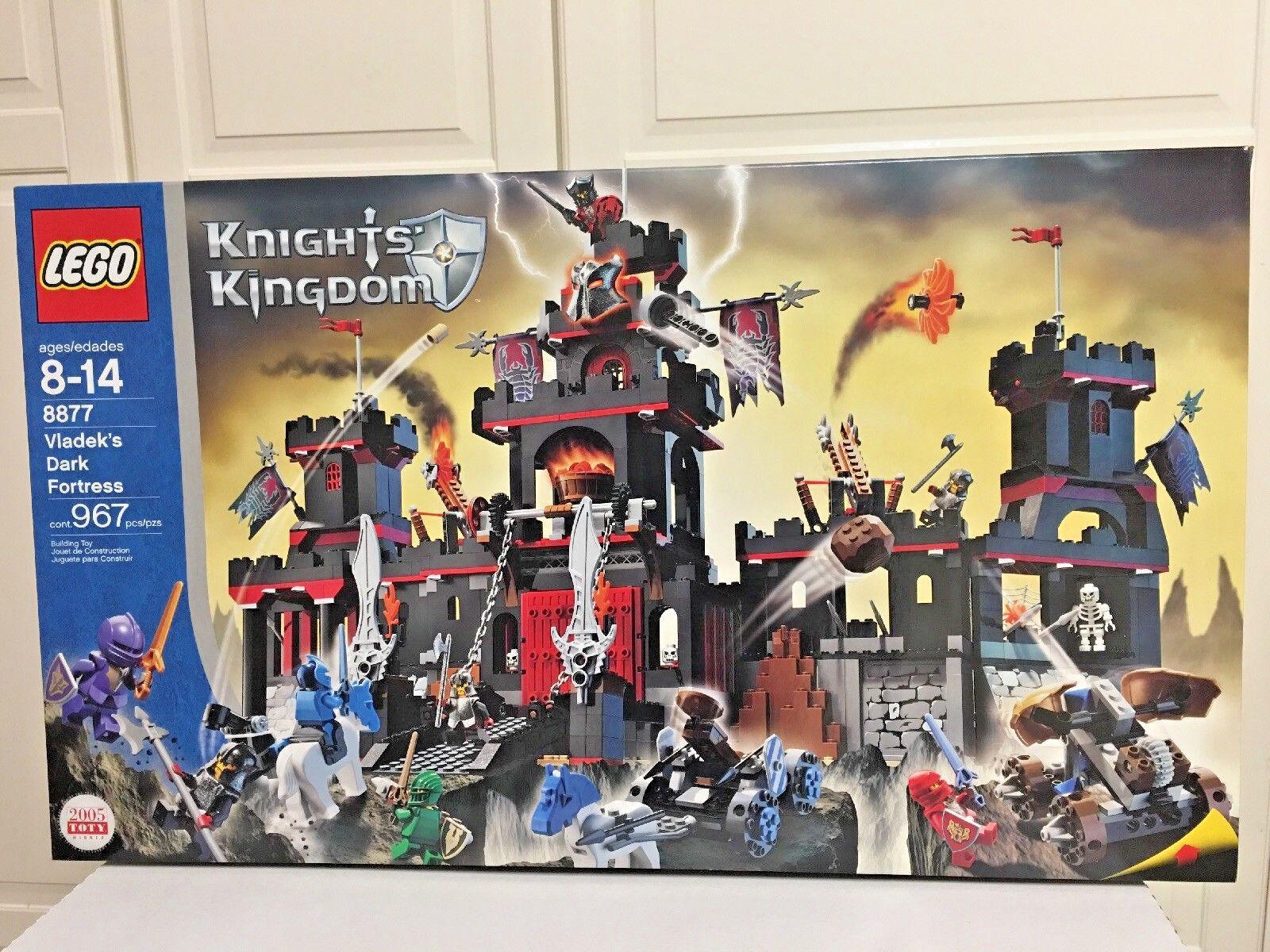 Lego Castle Knights Kingdom 8877 Vladek's Dark Fortress Fortress Fortress New Set 07fe29