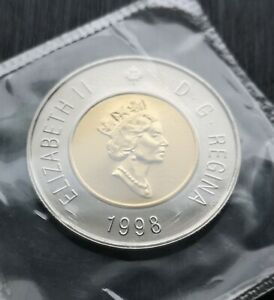 CANADA-TOONIE-1998-PROOF-LIKE-SEALED-COIN