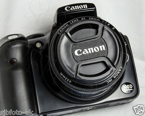 52MM CENTRE CENTER PINCH CLIP-ON FRONT LENS CAP COVER FOR CANON LC-52
