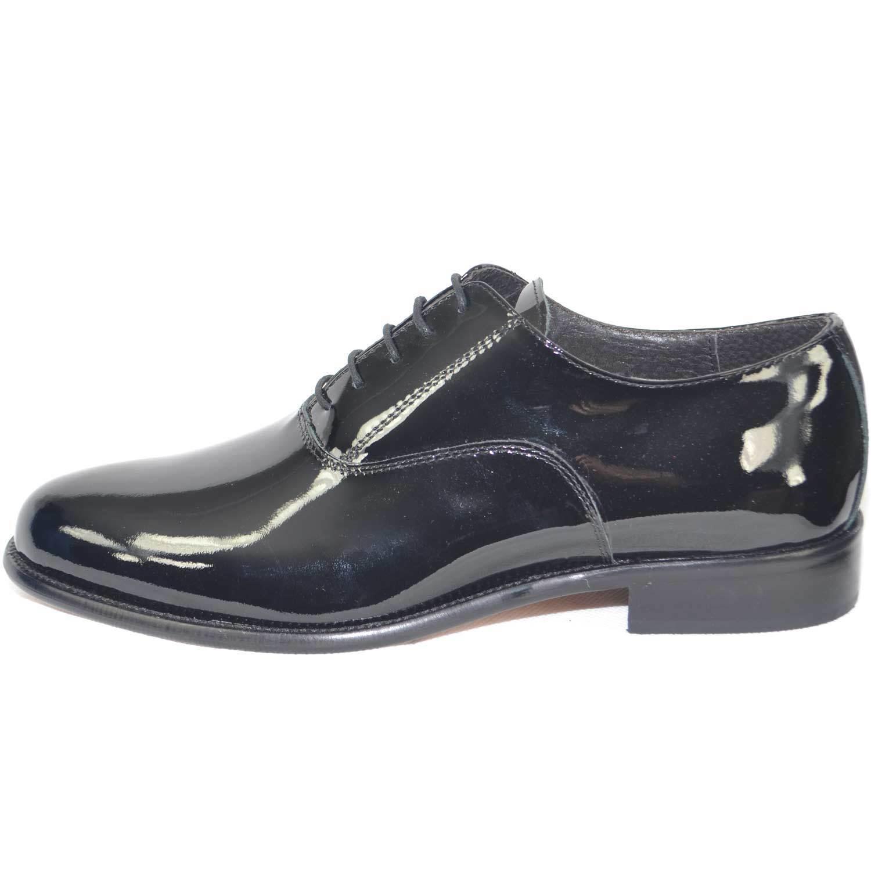 Scarpe calzature pelle business man eleganti colore nero vernice vera pelle calzature made in it bc5ab7