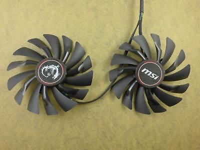 95mm MSI R9 390X 390 380 370 GAMING Dual Fan PLD10010S12HH 4Pin 12V 0.40A R189a