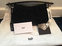 Authentic D&G Dolce & Gabbana Black Leather Small Purse/Bag Retail:$580