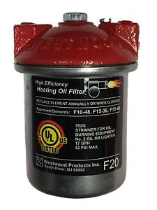 Westwood F20 F 20 Oil Filter Cast Iron Top Pure Oil