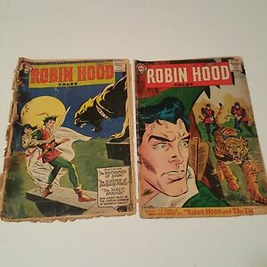 Robin-Hood-Tales-10-13-ROSS-ANDRU-MIKE-ESPOSITO-DC-Comics-1957-Lot-of-2-Poor