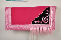 Western Show Barrel Racing Rodeo Saddle Blanket Pad - Pink