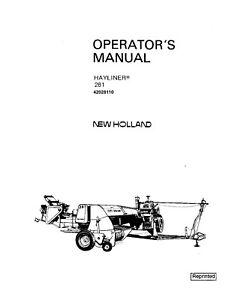 New Holland 281  Hayliner Baler Operators Manual