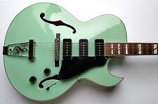 Dean Palamino Archtop W/CASE Electric Guitar Sea Green Hollowbody P-90's