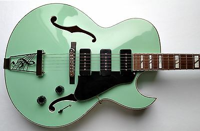 Dean Palomino Archtop W Case Electric Guitar Sea Green Hollowbody P 90 S Ebay