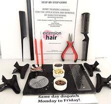 Micro-rings COMPLETO FAI DA TE kit+step x passo manuale APP / rimozione estensioni capelli