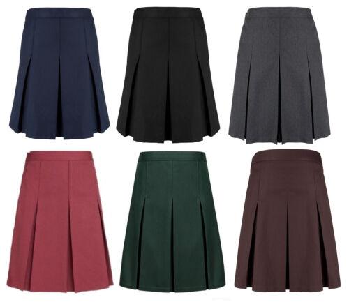 Girls Pleated School Skirt In Long /& Extra Long Lengths