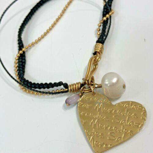 Mercedes Salazar Bracelet Multi Strand Charm Heart