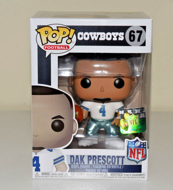 Funko NFL Dak Prescott Dallas Cowboys 2017 Home Uniform Wave 4 #67 - NEW