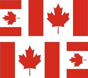 4-x-Aufkleber-Auto-Sticker-tuning-motorrad-Autoaufkleber-Fahne-Flagge-Kanada