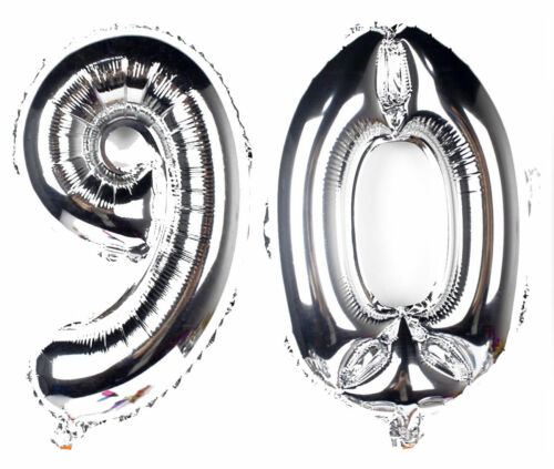 """Giant Birthday Party Number 80th Foil Balloon 16/"""" INCH Air Decoration Age 80 UK"""
