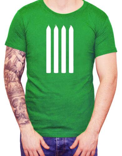 """/""""Quatre Bougies/"""" T-shirt 4 Fourche Poignées Funny Men/'s Top Tee les deux 2 Ronnies"""