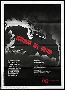 ECOLOGIA DEL DELITTO MANIFESTO CINEMA MARIO BAVA HORROR THRILLER 1971 POSTER 2F