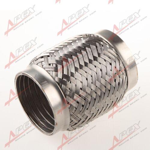 "3/"" Exhaust Flex Pipe 4/"" Length Stainless Steel Coupling Interlock"