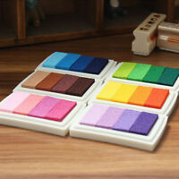 Popular Inkpad Gradient Oil Based Signet Paper Rubber Stamp Wood Craft 4 Colors