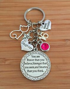 Image Is Loading Personalised BIRTHDAY Gift Cat Keyring For Mum Friend