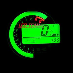 Kawasaki-Z1000-750-ZX6R-ZX10R-Tachobeleuchtung-Umbau-SMD-LED-Set-GRUN-LED-Team