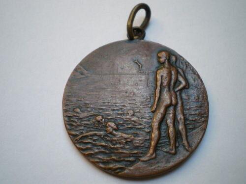 Medalla (con relieve) 50 metres Braça vintage. 26 07 1931