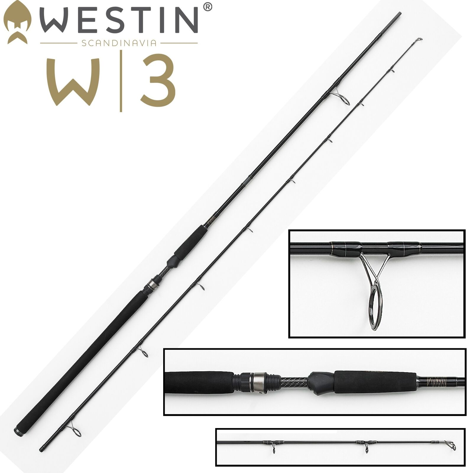 Westin W3 Powercast 278cm XXH 40-130g Spinnrute zum Hechtangeln, Blinkerrute
