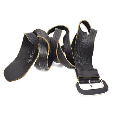 Armani Jeans Wide Vintage Womens Leather Waist Belt Black Size M / L