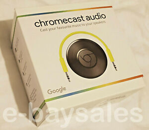 RARE-GENUINE-OFFICIAL-NEW-SEALED-GOOGLE-CHROMECAST-AUDIO-WIFI-WIRELESS-STREAMING