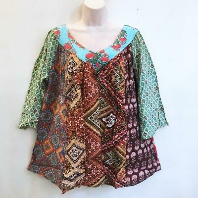 Sacred Threads Peasant Blouse wSequins \u2013 One Size