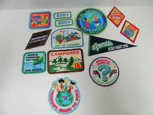 Lot 13 Girl Scout Patch World Thinking Day Cookies Camporee Go Global Friendship