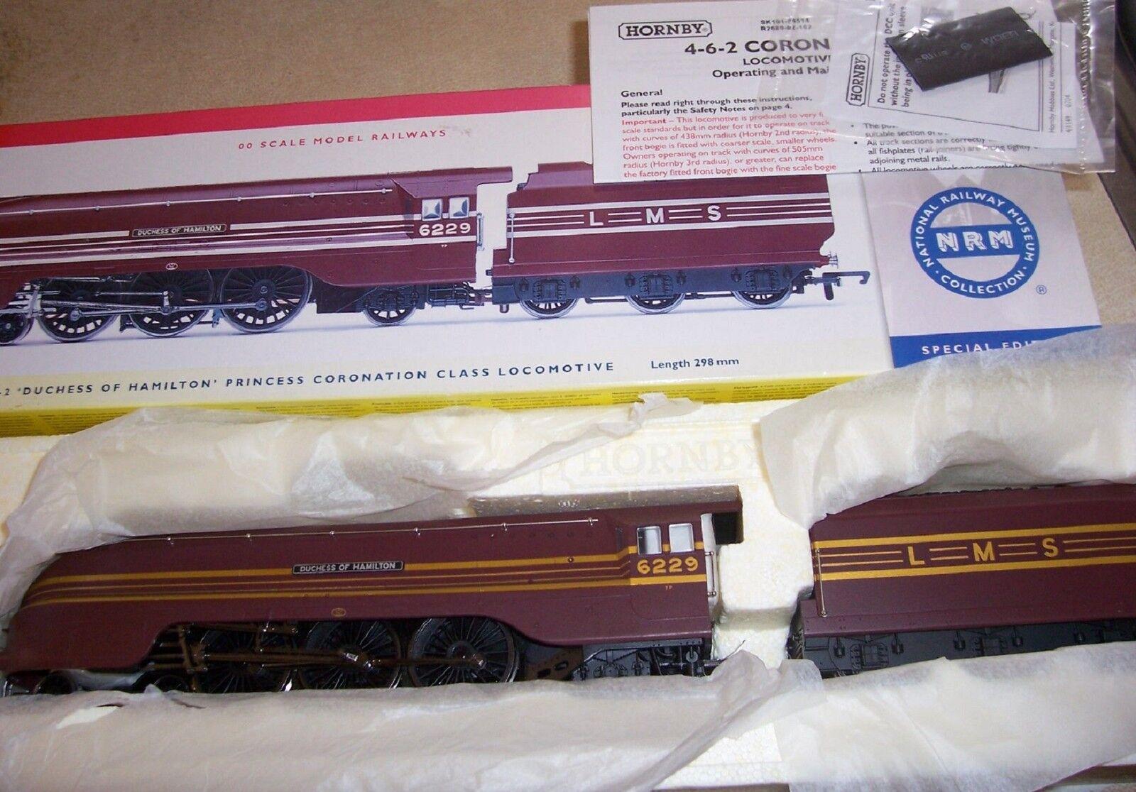 Hornby R2689 4-6-2 Duchess of Hamilton Coronation NRM Sp Edt DCC Ready MIB