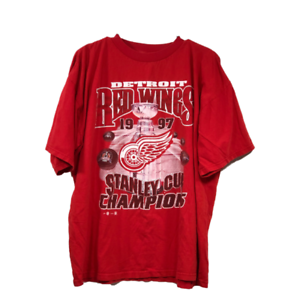 Vintage-Detroit-Red-Wings-Mens-XL-T-Shirt-Red-1997-Stanley-Cup-Champions