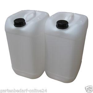 6 x 25 L Kanister natur Camping Outdoor Trinkwasserkanister lebensmittelecht.