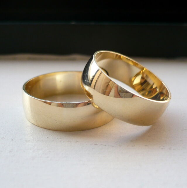 new arrrival! 10K SOLID GOLD HIS & HER WEDDING BAND RING SET 5-13 free engraving