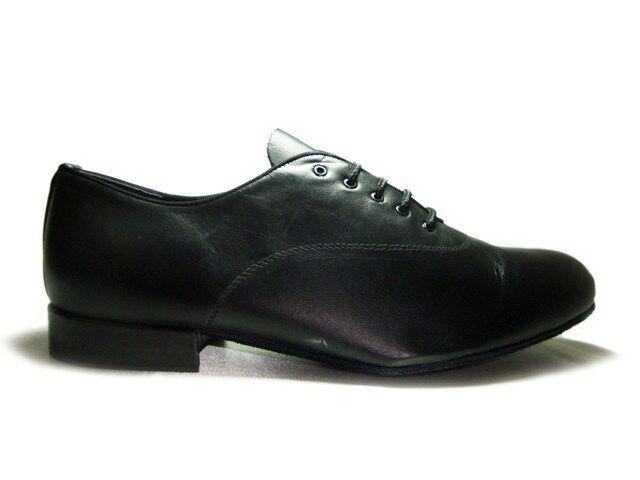 MONDIAL SHOES 1 scarpe da ballo uomo bambino tacco 20/US nere basse pelle