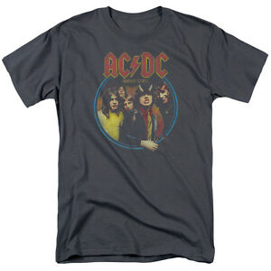 ACDC-HIGHWAY-TO-HELL-Licensed-Adult-Men-039-s-Graphic-Band-Tee-Shirt-SM-5XL