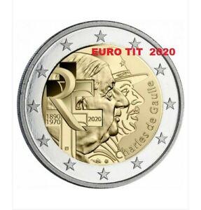2-COMMEMORATIVE-NEUVE-1-x-PIECE-FRANCE-2020-DE-GAULLE-2020-disponible