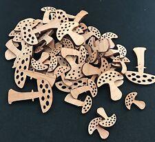 50 Streudeko Holz Tischdeko Deko BastelZubehör Streuteile Pilze Pilz MIX Herbst