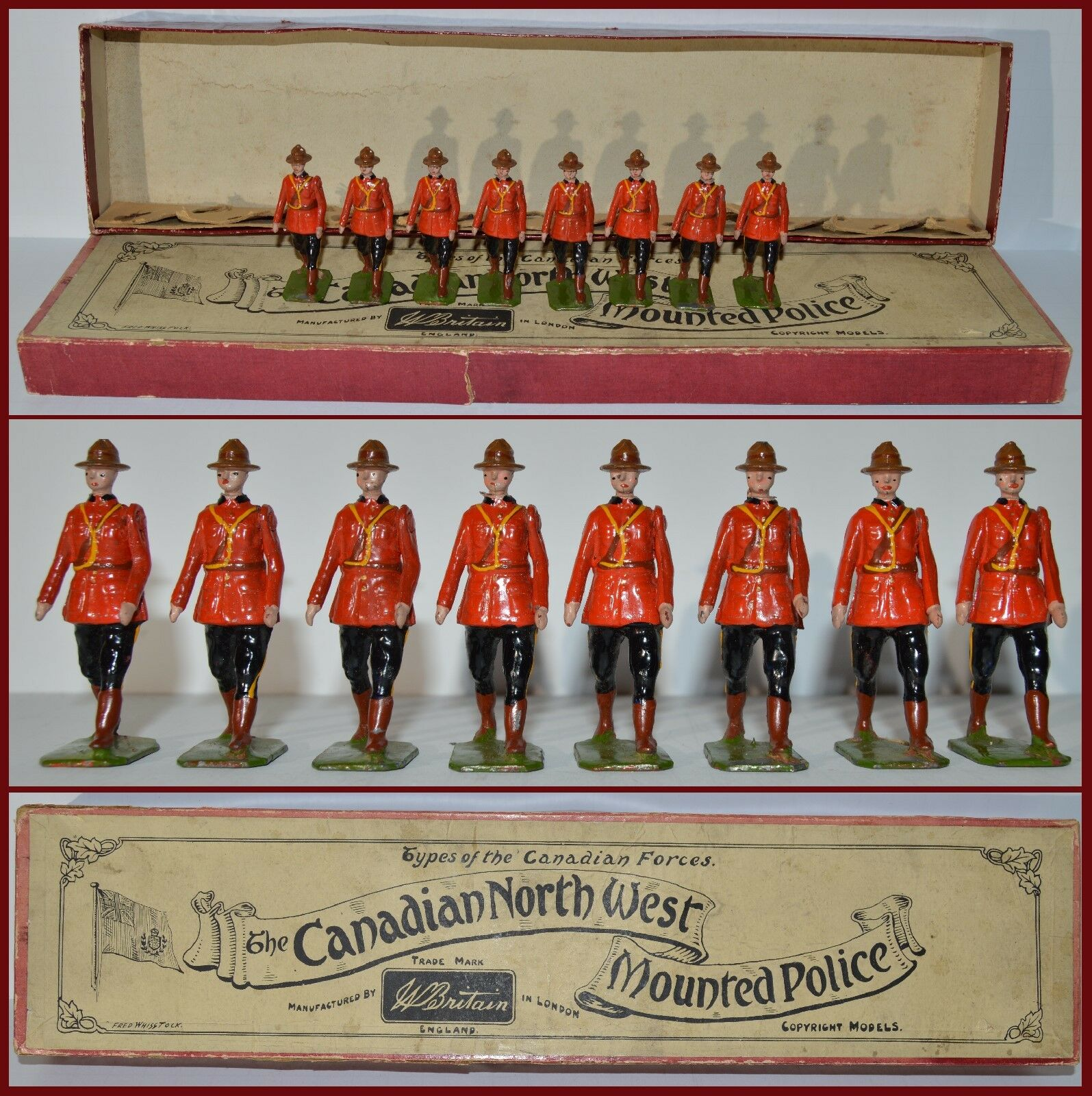 Britains Pre-War Set Royal Canadian Mounted Police  CX-1230